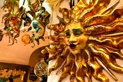 Venetiaanse maskers op verkoop Royalty-vrije Stock Foto