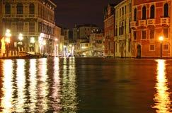 Venetiaanse nacht royalty-vrije stock fotografie