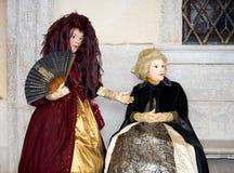 Venetiaanse poppen Stock Afbeeldingen