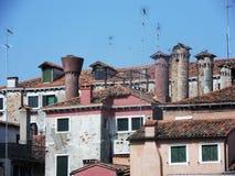 Venetiaanse schoorstenen Stock Foto's