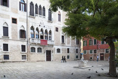 Venetiaanse stedelijke scène Royalty-vrije Stock Foto's
