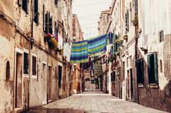 Venetiaanse straat Stock Foto