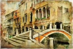 Venetiaanse straten Stock Afbeeldingen