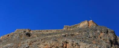 Venetiaanse vesting op het eiland Gramvousa, Griekenland Stock Afbeelding
