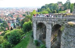 Venetian ściana - punkt zwrotny Bergamo obrazy royalty free