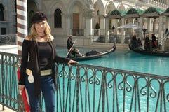 venetian женщина стоковая фотография
