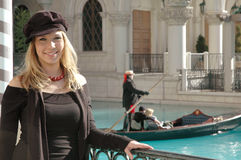 venetian женщина стоковое изображение rf