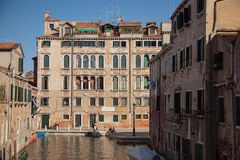 Venetian apartment blocks stock image