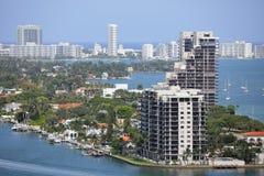 Venetian öar Miami Beach Arkivbild