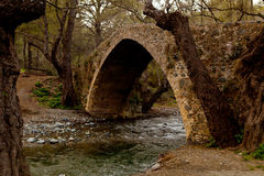 Venetian Arch Bridge. One of famous Venetian Bridges in Cyprus Royalty Free Stock Image