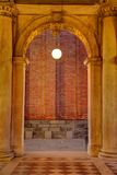 Venetian Arched Passage with Light Stock Image