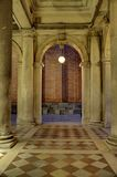 Venetian Arched Passage with Light Stock Photography