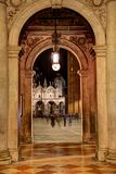 Venetian Arched Passage with Light Royalty Free Stock Photography