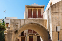 Venetian architecture in the old town in Rethymno Stock Image