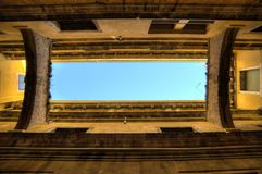 Venetian Architecture Perspective Frames. Frames made out of looking straight up at Venetian architecture Royalty Free Stock Image