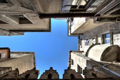 Venetian Architecture Perspective Frames Royalty Free Stock Photos