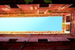 Venetian Architecture Perspective Frames. Frames made out of looking straight up at Venetian architecture Royalty Free Stock Photography