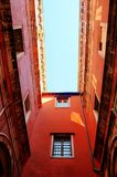 Venetian Architecture Perspective. High angle perspective of venetian architecture looking up Stock Photography