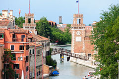 Venetian Arsenal's entrance Royalty Free Stock Image