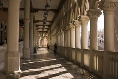 Venetian Balcony Columns and Arches in Las Vegas Royalty Free Stock Photos
