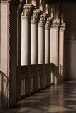 Venetian Balcony Columns and Arches in Las Vegas Stock Photography