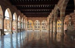 Lionellos balkong i Udine Arkivfoton