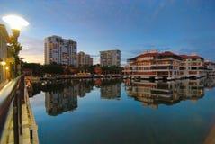 Venetian Bay. In Naples Florida royalty free stock photography