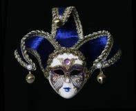venetian blå maskering Royaltyfria Bilder