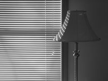 Venetian blind: lamp - h Royalty Free Stock Image