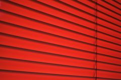 Venetian blind in red Stock Photos