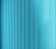 Venetian blinds. Blue toned. Vertical Blinds Curtain for nice blue background Royalty Free Stock Photos