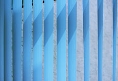 Venetian blinds. Blue toned. Vertical Blinds Curtain for nice blue background Stock Image
