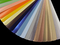 Venetian blinds color chart Royalty Free Stock Images
