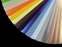 Venetian blinds color chart. Isolated on black stock images