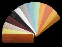 Venetian blinds color chart Stock Image