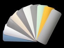 Venetian blinds color chart Royalty Free Stock Photo