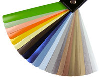 Venetian blinds color chart Royalty Free Stock Image