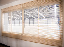 Venetian blinds. In room factory Royalty Free Stock Photos
