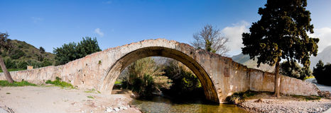 Venetian Bridge At Preveli Royalty Free Stock Photos
