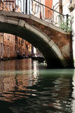 Venetian bridge and canal Royalty Free Stock Photo