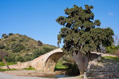 Venetian Bridge at Preveli Royalty Free Stock Photo