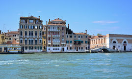 Venetian Buildings from the sea Stock Photo