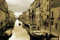 A venetian canal Royalty Free Stock Photo