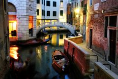 A venetian canal Stock Images