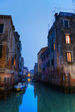 Venetian canal at dusk Stock Image