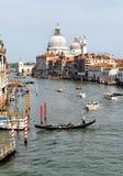 Venetian canal grande view Stock Photos