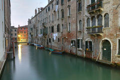 Venetian canal in the morning Stock Image