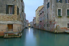 Venetian canal in the morning Royalty Free Stock Photography
