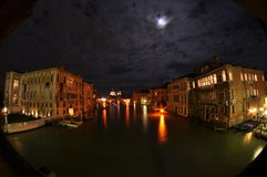 Venetian canal at night Royalty Free Stock Photos