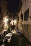 Venetian Canal at Night Royalty Free Stock Photography